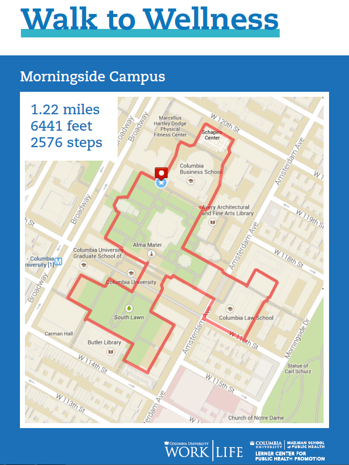 morningside campus walking map