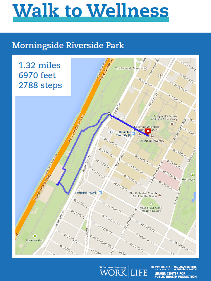 morningside walking map for riverside park